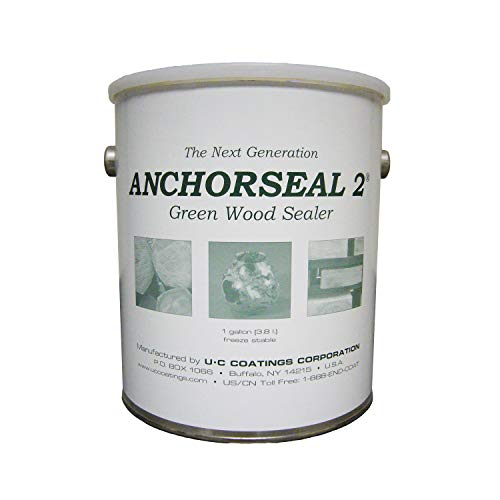 (ANCHORSEAL 2 Hybrid Log & Lumber End Sealer - 1 Gallon Water Based Wax & Polymer Prevents up to 90% of End Checking on Cut Ends of Hardwood & Softwood)