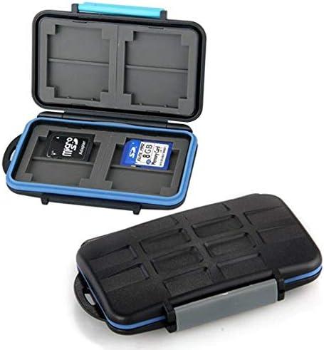 UKCOCO 1 Unids JJC MC-2 Sellado Estuche para Tarjeta de Memoria Impermeable Caja de Almacenamiento Duro para 4 Tarjetas CF 8 Tarjetas SD: Amazon.es: Hogar