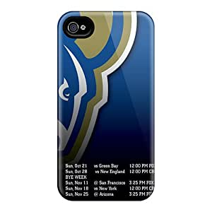 Protective Hard Phone Cover For Iphone 6 (Loq20146SEJV) Unique Design Attractive St. Louis Rams Series