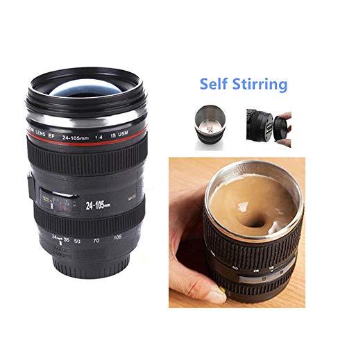 AVGDeals Self Stirring Camera Lens EF 24-105mm Thermos Travel Tea Coffee Mug
