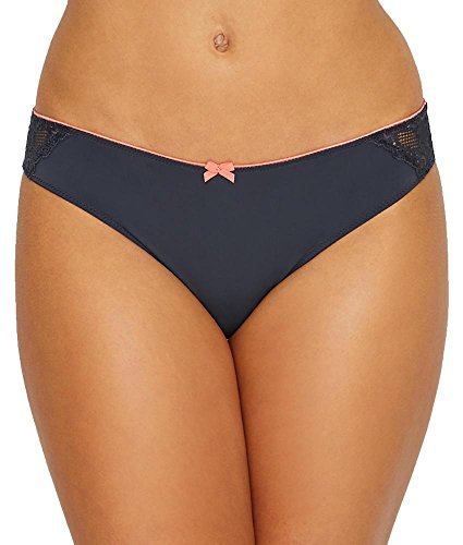 Panache Womens Panty (Cleo by Panache Morgan Brief, L, Charcoal/Coral)