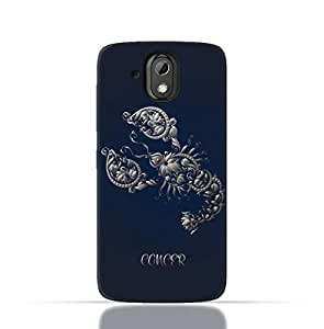 HTC Desire 526 G Plus TPU Silicone Case with Zodiac-Sign-Cancer Design