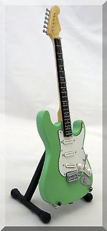 Guitare miniature Fender Stratocaster blanche Jeff Beck