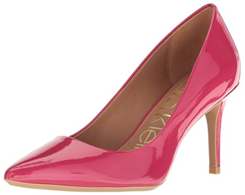 (Calvin Klein Women's Gayle Metallic Stingray Pump, Hibiscus Pink, 5.5 Medium US)