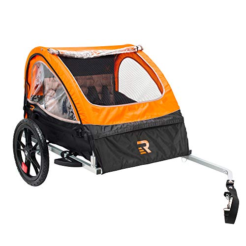 Best Price Retrospec Rover Kids Bicycle Trailer Single and Double Passenger Children's Foldable Tow ...