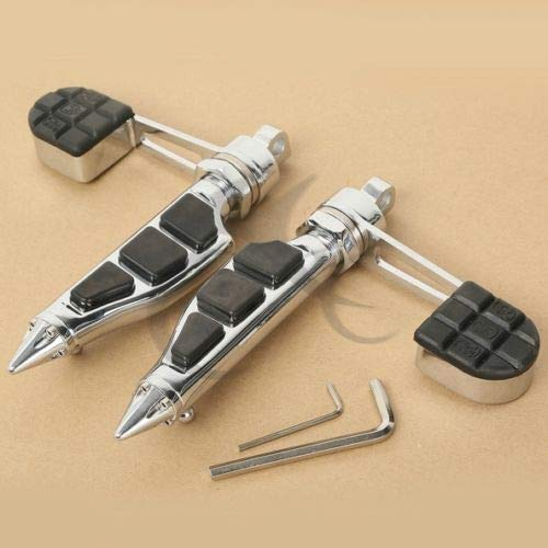 Frames & Fittings Stiletto Foot Pegs Footrest & Heel Stirrup for Harley Softail Sportster 883 1200