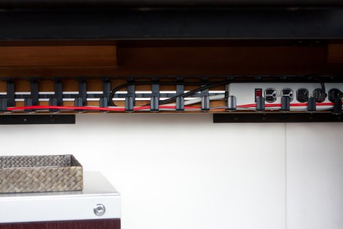 cable desk pin management for tidy office organisation under pinterest