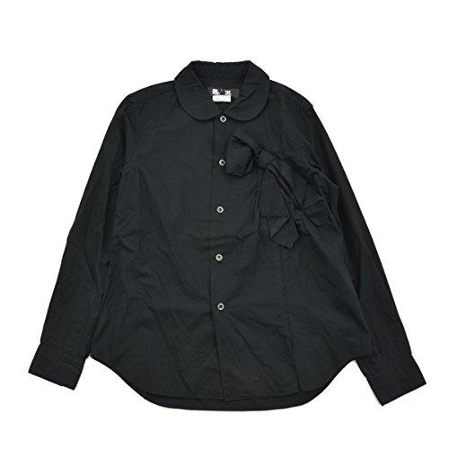 行手がかり肺(ブラックコムデギャルソン) BLACK COMME des GARCONS AD2009 ラウンドカラーリボン 長袖シャツ