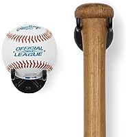 Wallniture Sporta Baseball Holder, Baseball Bat Wall Mount Display Stand for Man Cave Decor, Sports Memorabili