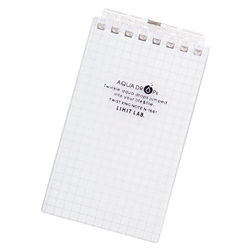 Lihit Lab Aqua Drops - Lihit Lab Aqua Drops Twist Ring Memo Notepad - 2.8