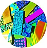 Assorted Dichroic on Black & Clear Glass Pieces - 90 coe - 2 oz,