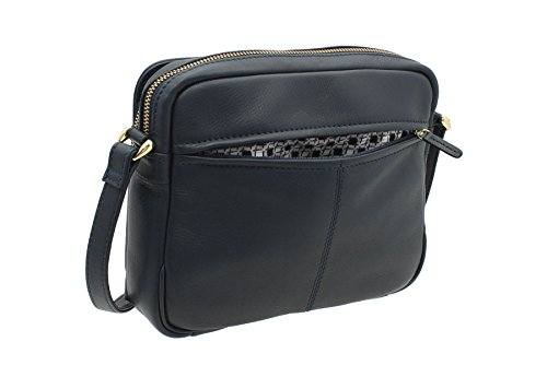 ORIGINALS Body Shoulder Cross 8376 2 NAPPA Navy Zip Bag Top Tulip Organiser Tula Leather UA1gwZx