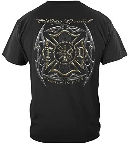 Firefighter T Shirt Firefighter Shirt | Elite Breed Firefighter Blades Silve Shirt ADD135-THF2070S