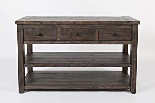 Jofran Madison County Sofa/Media Table - Barnwood/Farmhouse
