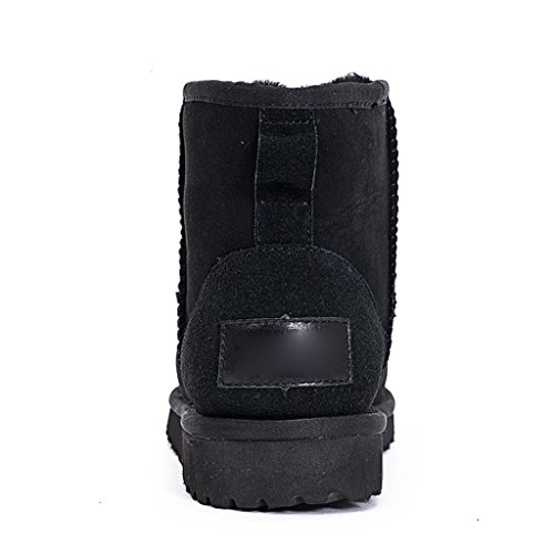 aL Black Bottes Neige Automne et Garder Plus au de Hiver épais Bottes amp;Lartement Femelle Chaud P61ww