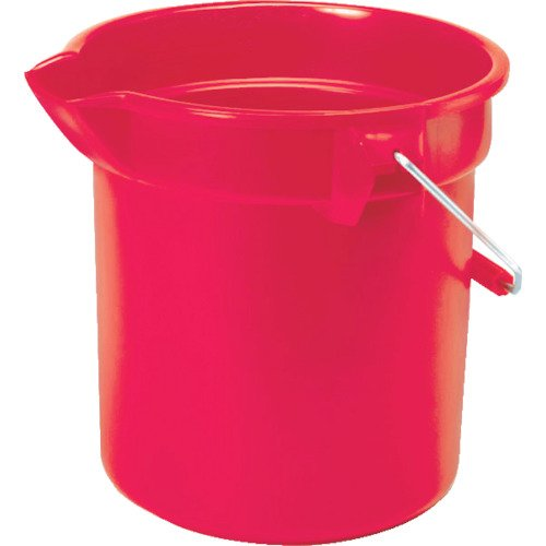 Round Bucket Utility - Rubbermaid Commercial 10 Qt Round Bucket, Red (FG296300RED)