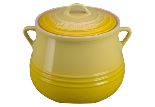 Le Creuset Heritage Stoneware Covered Bean Pot, 4-1/2-Quart, Soleil