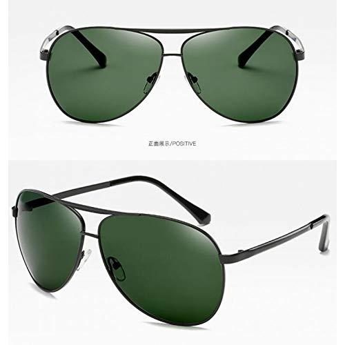 del Marco Burenqiq del té Sol Gafas de los polarizadas Metal Sol del de de frame Espejo del Rebanada Black dark del Moda Gafas de té Vintage Hombres green Gafas Sol polarizadas del BPIgPx