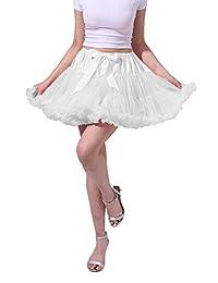Tsygirls Women's 50s Vintage Skirt Tutu Petticoat Ballet Underskirts