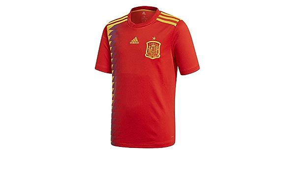 adidas Camiseta de la Selección Española de Fútbol para el Mundial 2018, Réplica Oficial, Niños, 1ª Equipación: Amazon.es: Ropa y accesorios