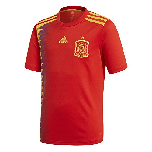 Adidas Kid's FEF Spain Home Soccer Jersey (Large) Red/Bold (Adidas Spain Soccer Jersey)