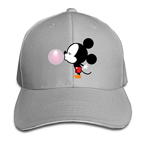 - Shenigon Balloon Mickey Mouse Cap Unisex Low Profile Cotton Hat Baseball Caps Gray