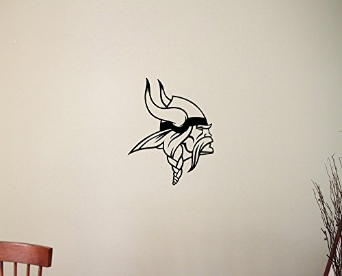 "Minnesota Vikings NFL Logo Wall Decal American Football Team Emblem Vinyl Sticker Home Interior Decorations Extreme Sports Sign Art Locker Room Bedroom Office Decor 1mv (22""wide x 27""high)"