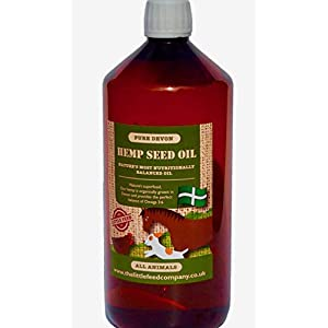 Hemp Seed Oil for pets, dogs & horses. Cold pressed in the UK. 1000ml.