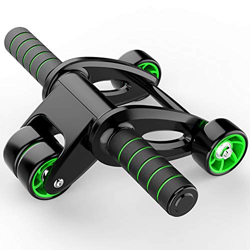 Ab Roller for Abs Exercise Workout Fitness -Ab Wheel Roller with Knee Mat and Resistance Bands,Perfect Home Gym…