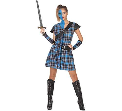 Atosa-53927 Disfraz Escocesa, Color Azul, XS-S (53927): Amazon.es ...