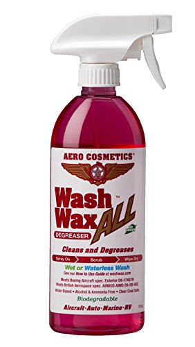 Aero Cosmetics Wet or Waterless Wheel, Tire, Engine, Cleaner Degreaser, Black Streak Remover, Aircraft Exhaust Soot Remover, for your Car, Aircraft, RV, Boat and Motorcycle, Wash Wax ALL Degreaser
