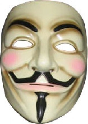 Guy Fawkes mask (V for Vendetta) by Rubies