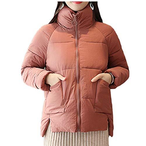 Jackets Stand Short Coats Puffer Women Parka Collar EKU 2 Zipper Down qpwzxq8X