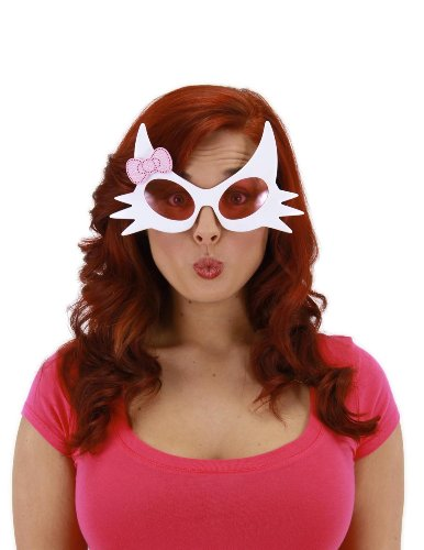 elope Kitty Glasses, White, One Size