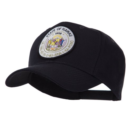 - e4Hats.com US Western State Seal Embroidered Patch Cap - Hawaii OSFM