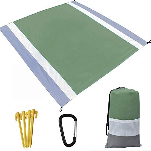 "Sand Free Beach Blanket,Beach mat Outdoor Picnic Blanket,Waterproof and Quick Drying Beach mat Made through Premium Nylon Pocket Picnic Sheet for Outdoor Tavel(78"" 82"")"
