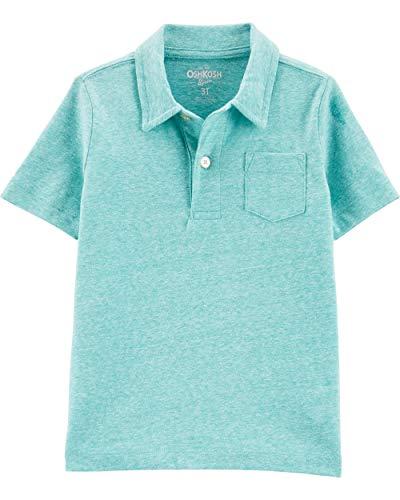 Osh Kosh Boys' Toddler Short-Sleeve Polo Shirt, Bermuda Bay, 4T