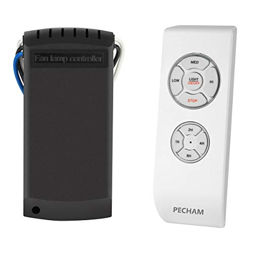 PECHAM Universal Lamp Kit & Timing Wireless Remote Control for Ceiling Fan, Scope of Application [Home/Office/Hotel/The Club/Display Hall/Restaurant]