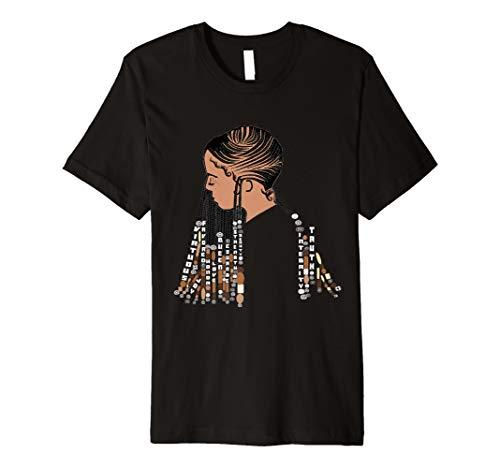 Natural Hair CORNROW BRAIDS/BEADS Design 2 Premium T-Shirt