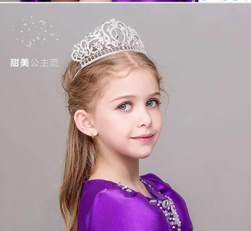 OLIJU Wholesale Children Crown Princess Sophia Purple Diamond Headband Hair Styling Clip Jewelry Hairpin Cute Baby Girls First Show (2 ()