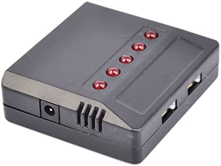 Lommer 5pcs 1000mah 3.7V Remplacement Drone Batterie Lipo Amélioré + 5 in 1 Chargeur + Sac Anti-déflagrant de Sécurité pour MJX Hélicoptère T04 / T05 / T25 / M03 / F28 / F29