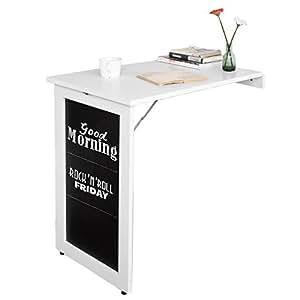 Sobuy mesa plegable de pared escritorio para fijar en la for Mesas de escritorio amazon