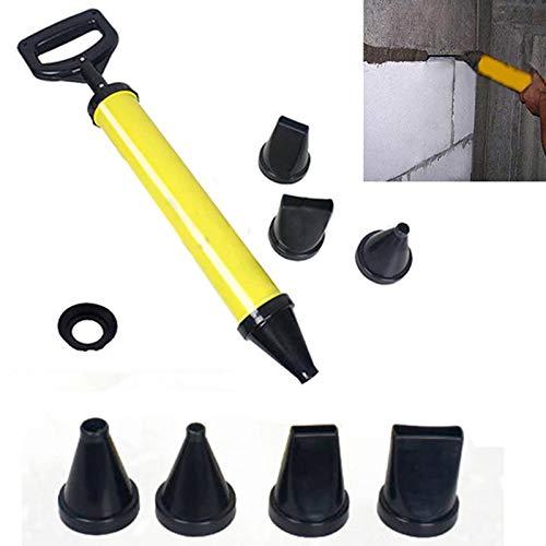 Grizack mortero Puntiagudo pulverizador aplicador Herramienta para Cemento Lima con 4 boquillas
