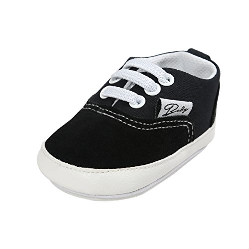 kuner-baby-boys-girls-canvas-rubber-sole-non-slip-sneaker-first-walkers-shoes-13cm12-18months-black