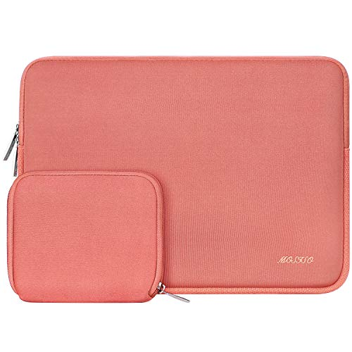 MOSISO Water Repellent Neoprene Sleeve Bag Cover Compatible with 13-13.3 inch Laptop with Small Case, Living Coral (Apple Water Lilly)
