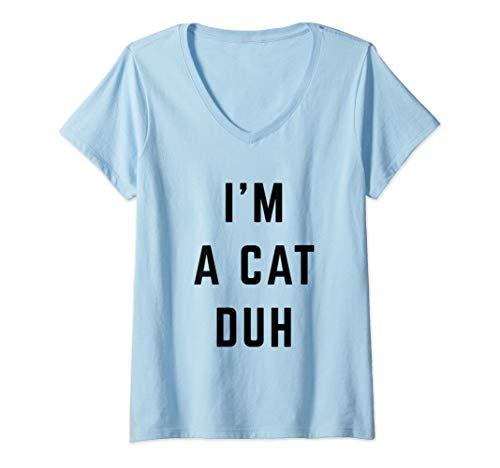 Womens I'm a Cat Duh Easy Halloween Costume