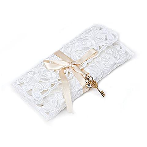 KingOfHearts Lace Jewelry Roll Up Case - Lace Rolling for Organizer, Traveling Bag of Jewellery