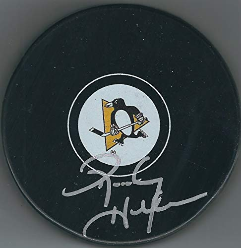 (Autographed Randy Hillier Pittsburgh Penguins Hockey Puck)