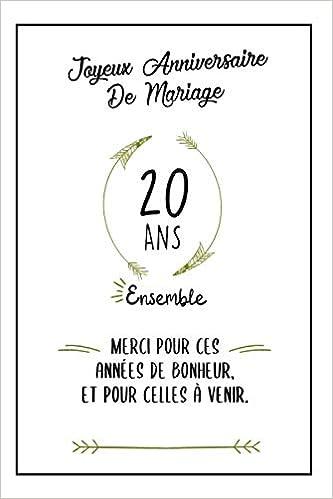 Joyeux Anniversaire De Mariage Carnet Idée Cadeau Noces