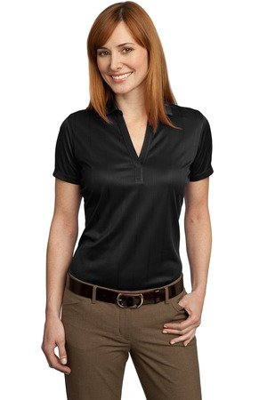 Port Authority Ladies Performance Fine Jacquard Polo. L528 Black 3XL